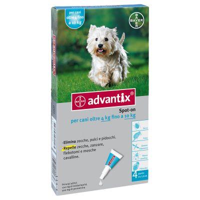 Advantix® Spot-on per cani oltre 4 kg fino a 10 kg