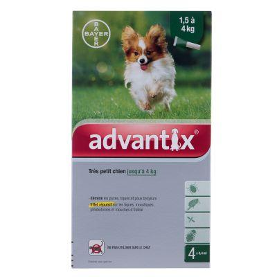 Advantix® très petit chien jusqu'à 4 kg