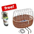 Aumüller Bike Basket with Protective Wire + Rain Cover Free!