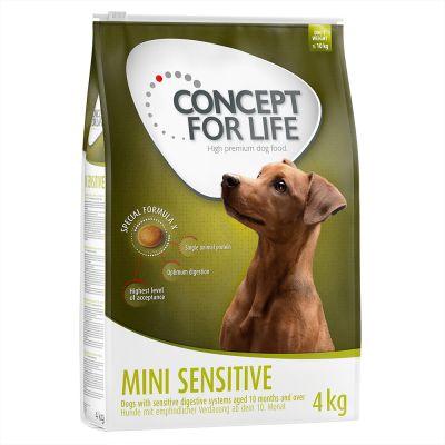 2 bzw. 3 kg + 1 kg gratis! Concept for Life für Mini-Hunde