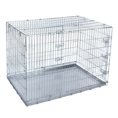 double door cage de transport pour chien et chat zooplus. Black Bedroom Furniture Sets. Home Design Ideas