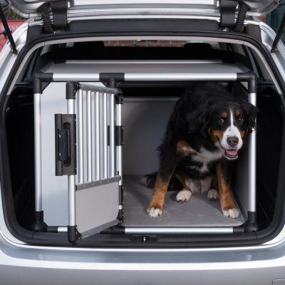 trixie cage de transport en aluminium pour chien gris. Black Bedroom Furniture Sets. Home Design Ideas