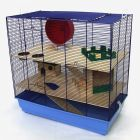 Cage Skyline Fun Area Leon version bleue pour rongeur