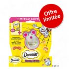 Catisfactions (Dreamies) fromage 60 g + jouet Snacky Mouse à prix avantageux !