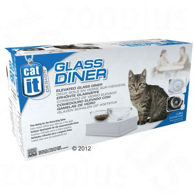 Catit Design Glass Diner schwarz