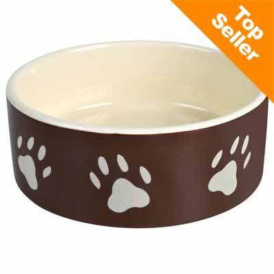 Ciotola in ceramica marrone con zampette Trixie