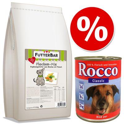 Combipakket: 10 kg  FUTTERBAR Vlokken-Mix + 6x Rocco Classic
