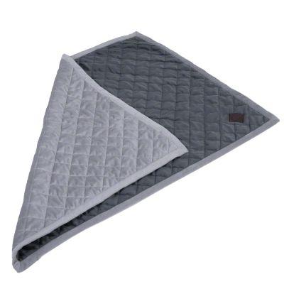 Coperta Velvet grigio granito