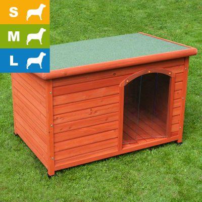 cuccia per cani woody con tetto piano risparmia con bitiba