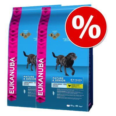 Dubbelpak: 2 Grote Zakken Eukanuba Mature & Senior Hondenvoer