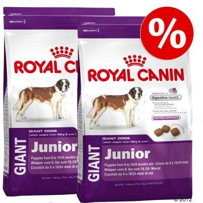 Dubbelpak: 2 x grote zak  Royal Canin Size- Giant Hondenvoer