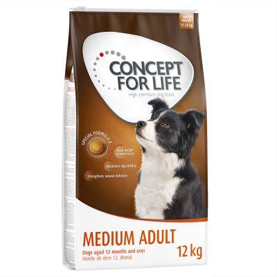 Duże opakowanie +  3/1,5 kg gratis! Concept for Life karma dla psa