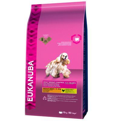 Eukanuba Adult Weight Control Medium Breed Kip Hondenvoer