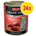 Fai scorta! Animonda GranCarno Sensitive 24 x 800 g