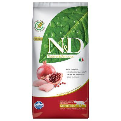 Farmina N&D Grain Free Adult Cat Pollo e Melograno Neutered