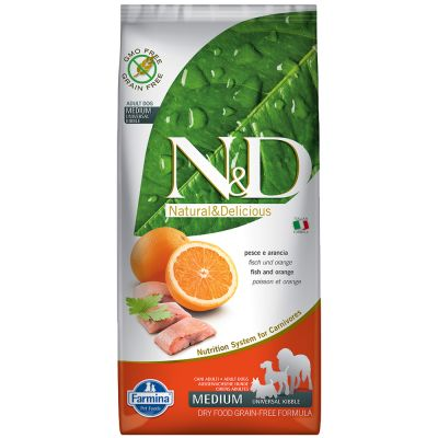 Farmina N&D Grain Free Adult Medium Pesce e Arancia