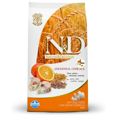 Farmina N&D Low Grain Adult Maxi Merluzzo e Arancia