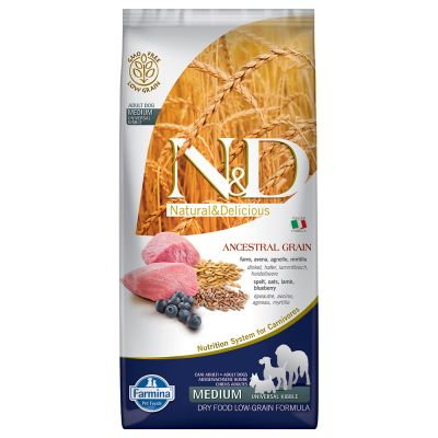 Farmina N&D Low Grain Adult Medium Agnello e Mirtillo