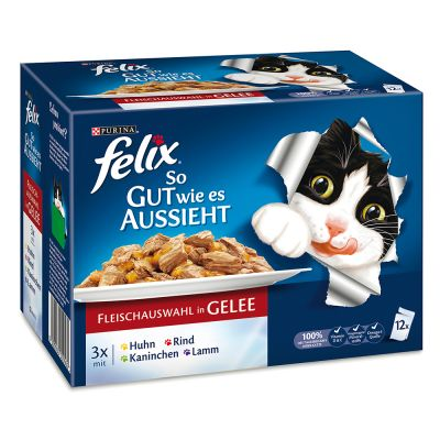 Felix  Le Ghiottonerie in gelatina 12 x 100 g