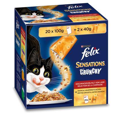 Felix Sensations Crunchy Crumbles 20 x 100g + 2 x 40g