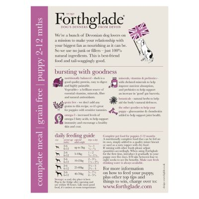 Forthglade Complete Meal Grain-Free Puppy - Duck