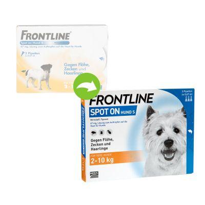frontline spot on hund s g nstig zooplus. Black Bedroom Furniture Sets. Home Design Ideas
