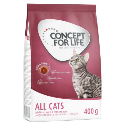 400g Concept for Life Dry Cat Food - Buy One Get One Free!*