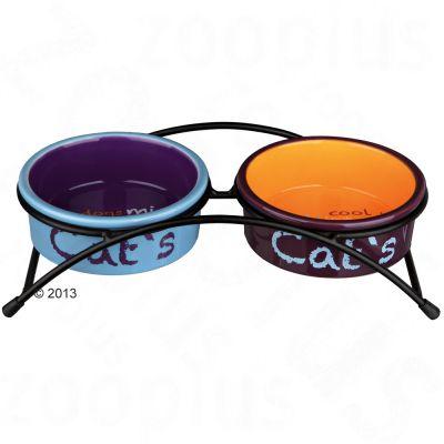 Gamelles en céramique Trixie Eat on Feet pour chat