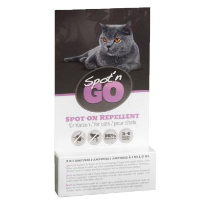 2 + 1 gratis! Spot'n Go Zeckenschutzmittel für Katzen