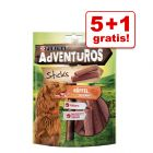 5 + 1 gratis! 6 x AdVENTuROS Hundesnacks