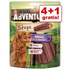 4 + 1 gratis! 5 x 90 g Adventuros Hondensnacks