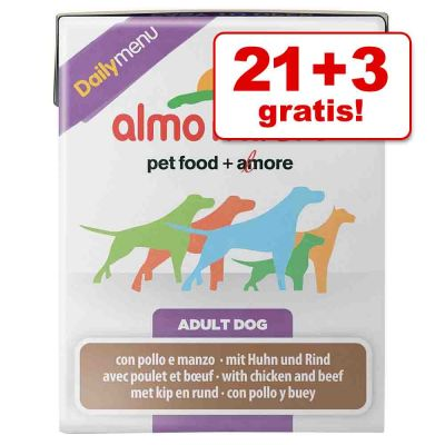 21 + 3 gratis! 24 x 375 g Almo Nature Daily Menu