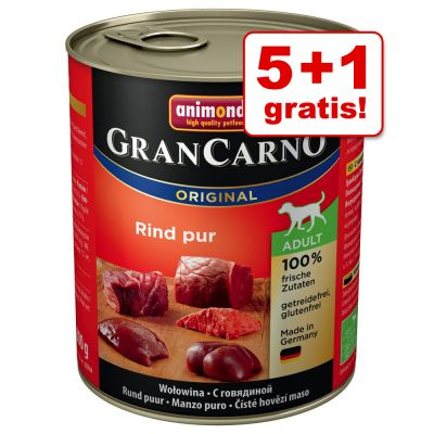 5 + 1 gratis! 6 x 800 g Animonda GranCarno Original Adult