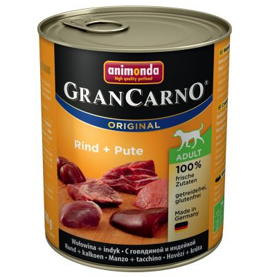 10 + 2 gratis! 12 x 800 g Animonda GranCarno Original Adult