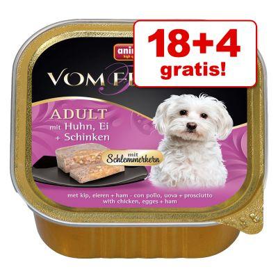18 + 4 gratis! 22 x 150 g Animonda vom Feinsten Adult cuore prelibato