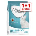 1 + 1 gratis! 2 x 400 g Concept for Life Sensitive Cats