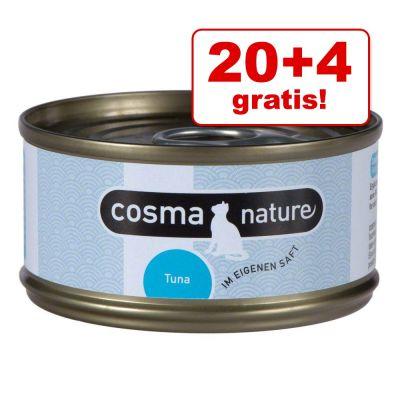 20 + 4 gratis! 24 x 70 g Cosma Nature