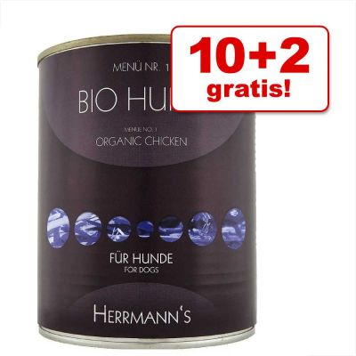 10 + 2 gratis! 12 x 800 g Herrmanns Menù