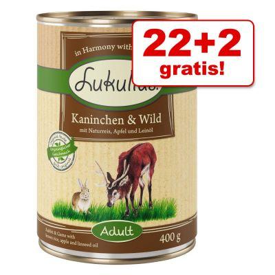 22 + 2 gratis! 24 x 400 g Lukullus