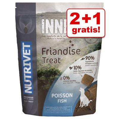 2 + 1 gratis! 3 x 250 g Nutrivet Inne Snack Dog Fish