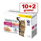 10 + 2 gratis! 12 x 85 g Perfect Fit Mixpack!