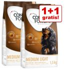 1 + 1 gratis! 2 x 1,5 kg Concept for Life Light Hundefutter