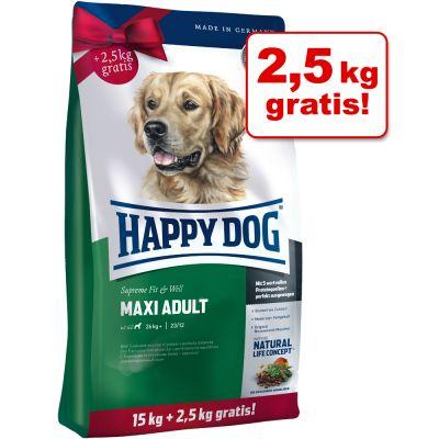 Happy Dog Fit & Well Maxi Adult & Medium Adult Bonusbag