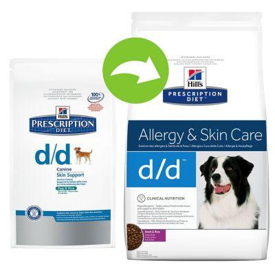 Hill´s Prescription Diet Canine D/D Allergy & Skin Care Hondenvoer Eend & Rijst