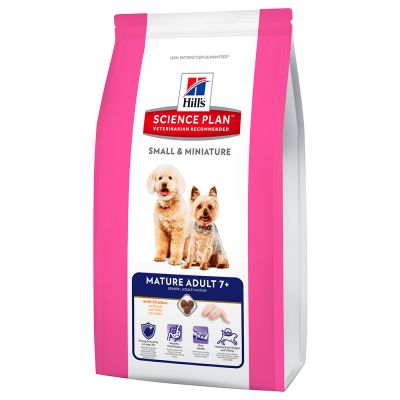 Hill's Science Plan Mature Adult 7+ Small & Miniature Huhn & Truthahn Hundefutter