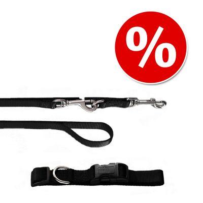 Hunter Set: Halsband Ecco Sport + Hundeleine, schwarz