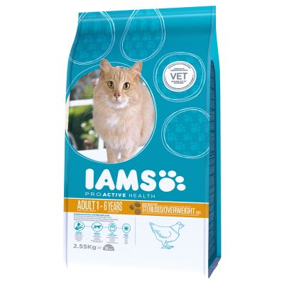 Iams Proactive Health Adult Light In Fat Chicken Dry Cat Food