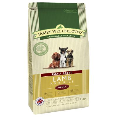 James Wellbeloved Adult Small Breed - Lamb & Rice