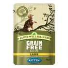 James Wellbeloved Kitten Maaltijdzakjes Kattenvoer 12 x 85 g