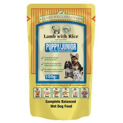 James Wellbeloved Puppy & Junior - Agnello con riso
